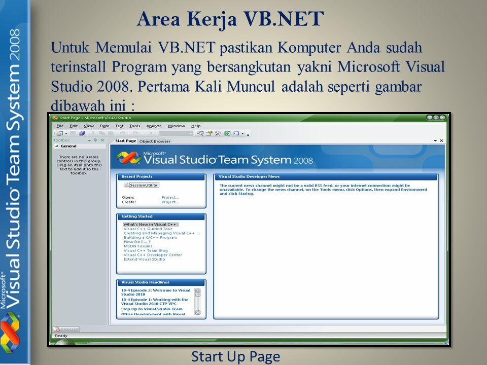 Area Kerja VB.NET