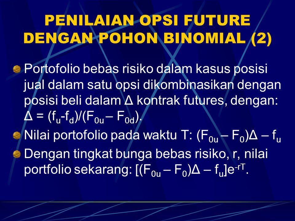 PENILAIAN OPSI FUTURE DENGAN POHON BINOMIAL (2)
