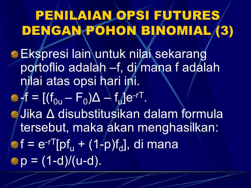 PENILAIAN OPSI FUTURES DENGAN POHON BINOMIAL (3)