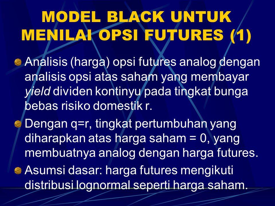 MODEL BLACK UNTUK MENILAI OPSI FUTURES (1)