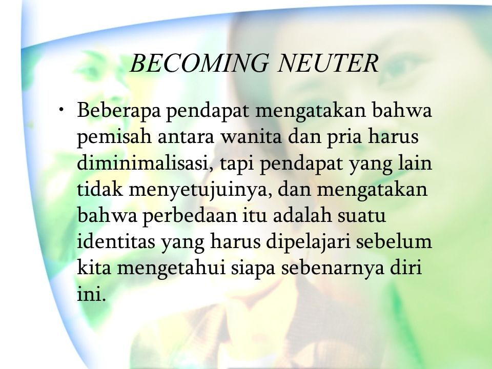 BECOMING NEUTER