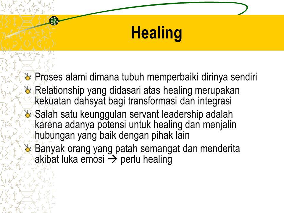 Healing Proses alami dimana tubuh memperbaiki dirinya sendiri