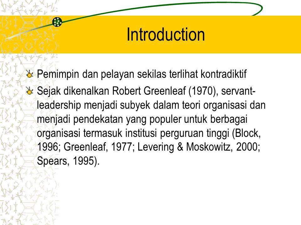 Introduction Pemimpin dan pelayan sekilas terlihat kontradiktif