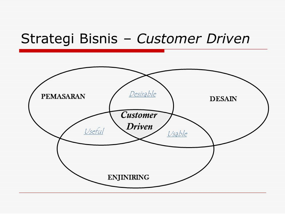 Strategi Bisnis – Customer Driven