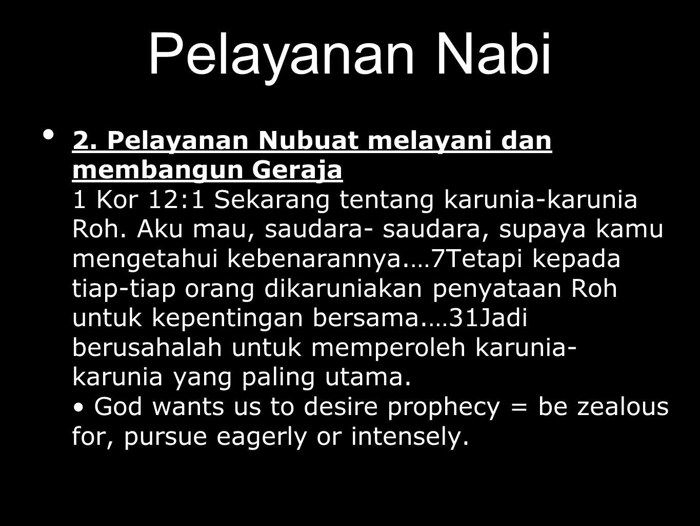 Pelayanan Nabi