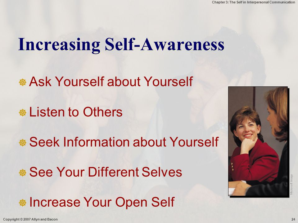 Increasing Self-Awareness