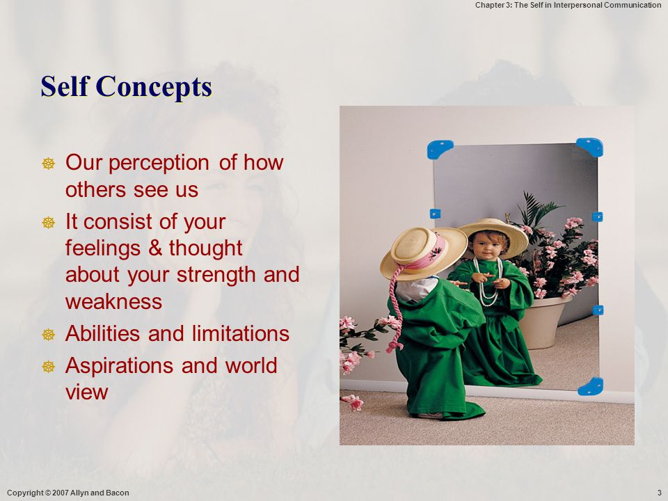 Self Concepts Our perception of how others see us