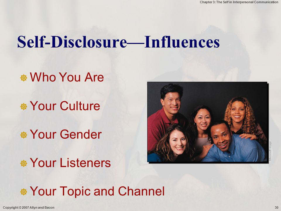 Self-Disclosure—Influences
