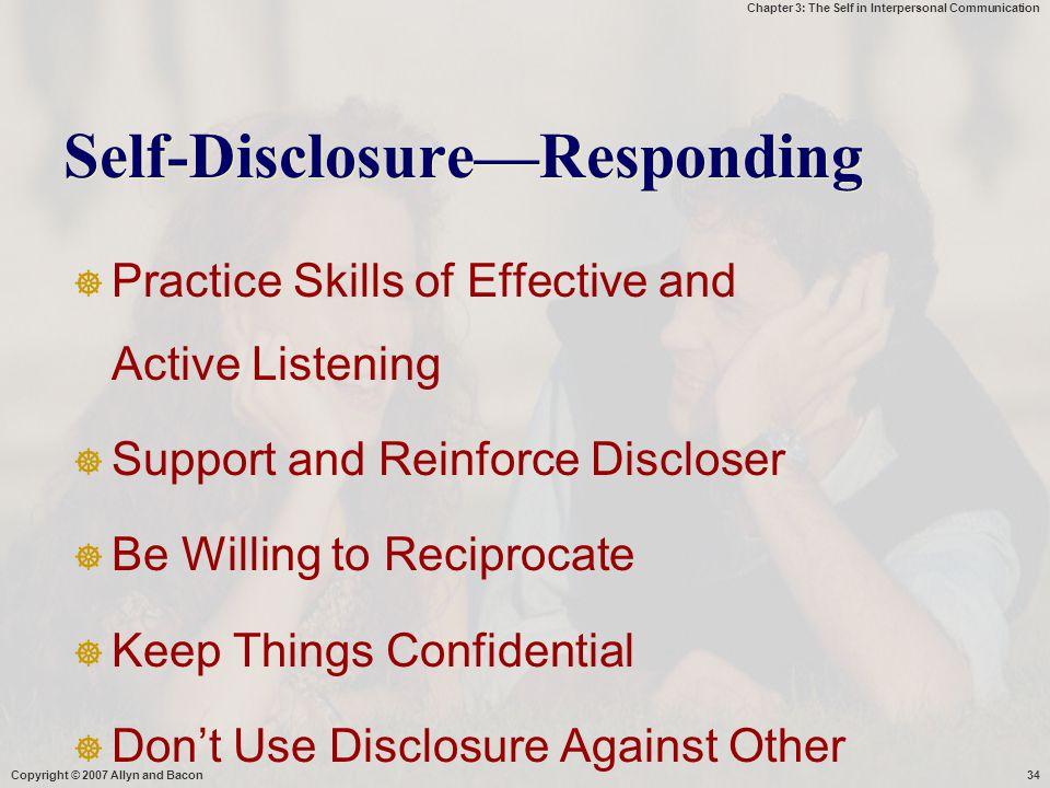 Self-Disclosure—Responding