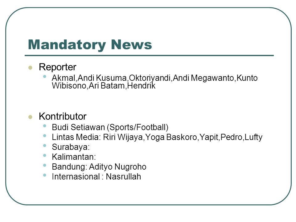 Mandatory News Reporter Kontributor