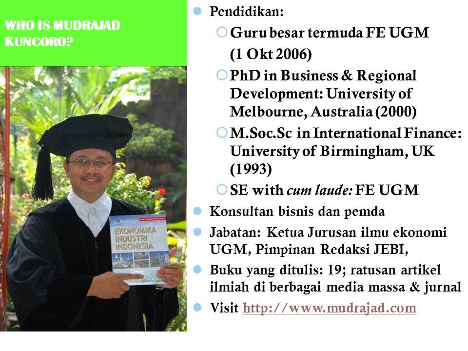 Guru besar termuda FE UGM (1 Okt 2006)