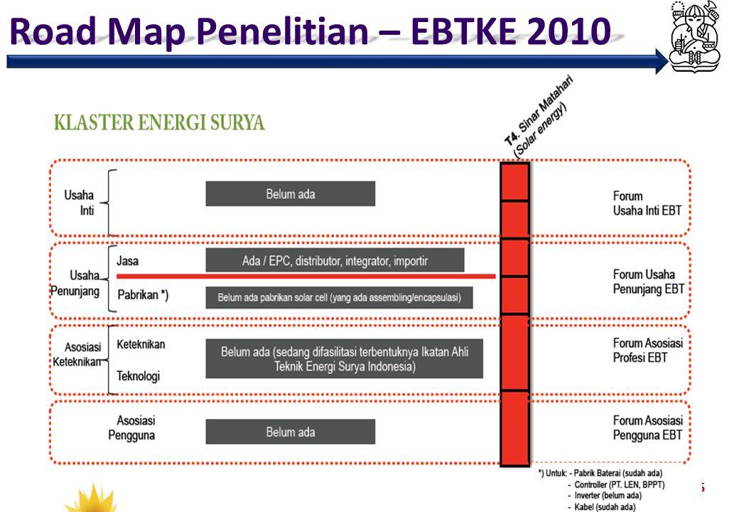 Road Map Penelitian – EBTKE 2010