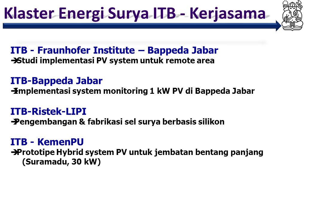 Klaster Energi Surya ITB - Kerjasama