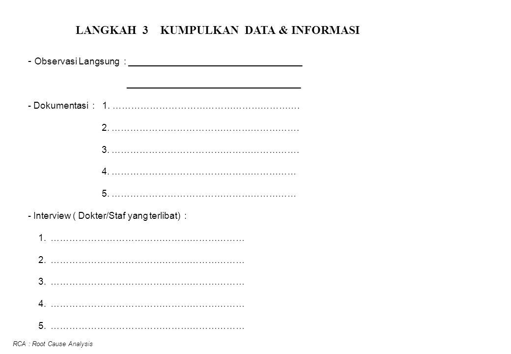 LANGKAH 3 KUMPULKAN DATA & INFORMASI