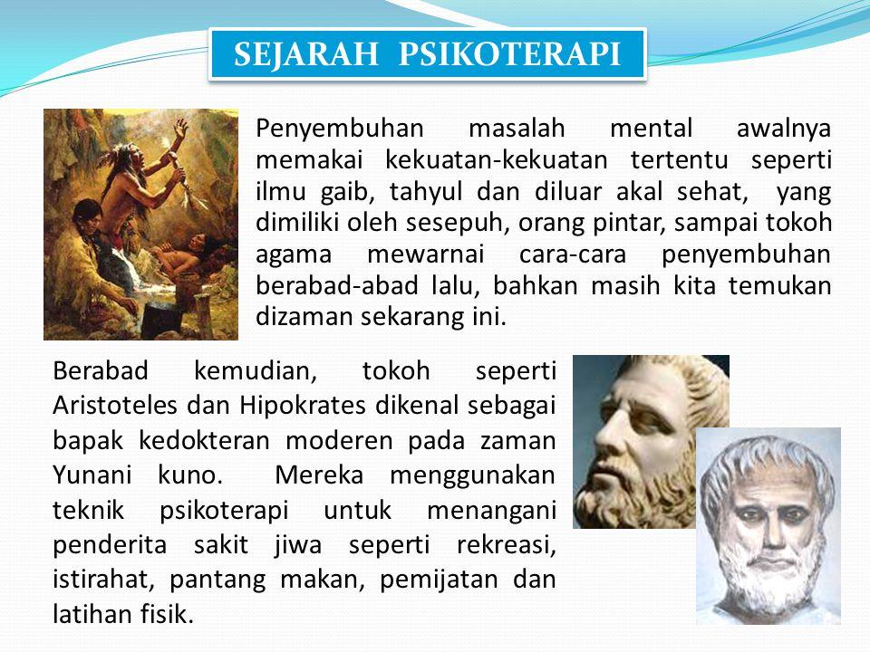 SEJARAH PSIKOTERAPI