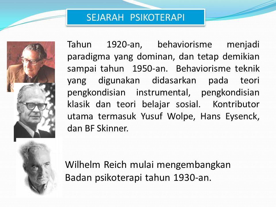 Wilhelm Reich mulai mengembangkan Badan psikoterapi tahun 1930-an.
