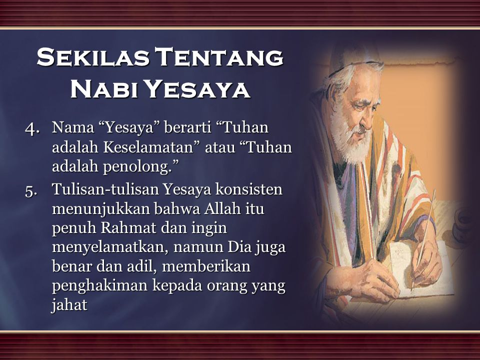 Sekilas Tentang Nabi Yesaya