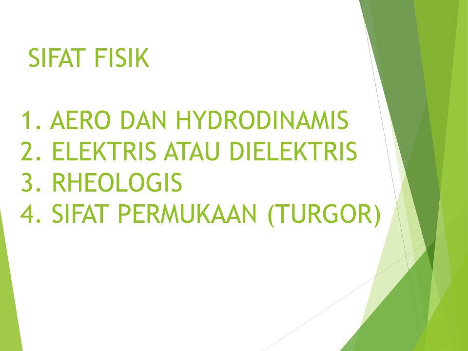 SIFAT FISIK 1. AERO DAN HYDRODINAMIS 2. ELEKTRIS ATAU DIELEKTRIS 3