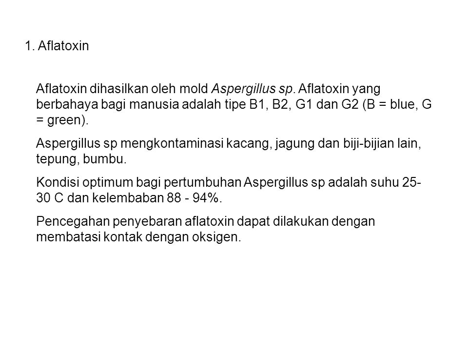 1. Aflatoxin