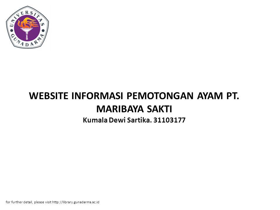 WEBSITE INFORMASI PEMOTONGAN AYAM PT