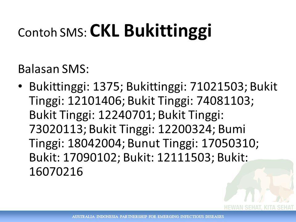 Contoh SMS: CKL Bukittinggi