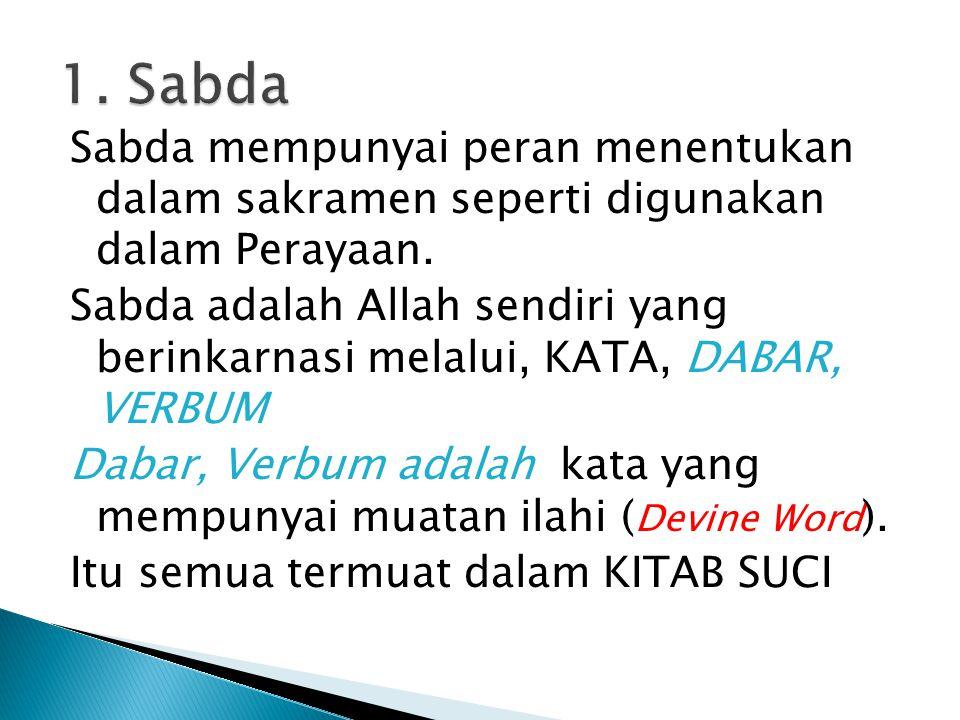 1. Sabda