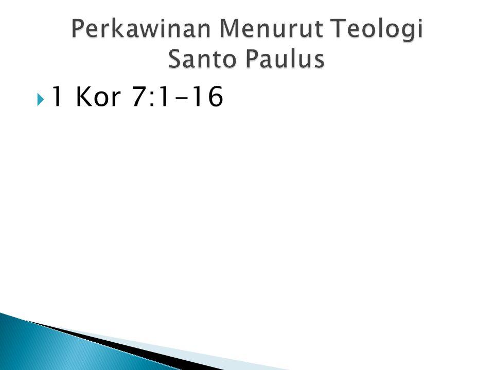 Perkawinan Menurut Teologi Santo Paulus