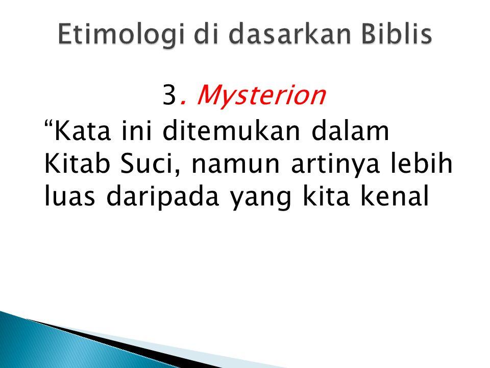 Etimologi di dasarkan Biblis