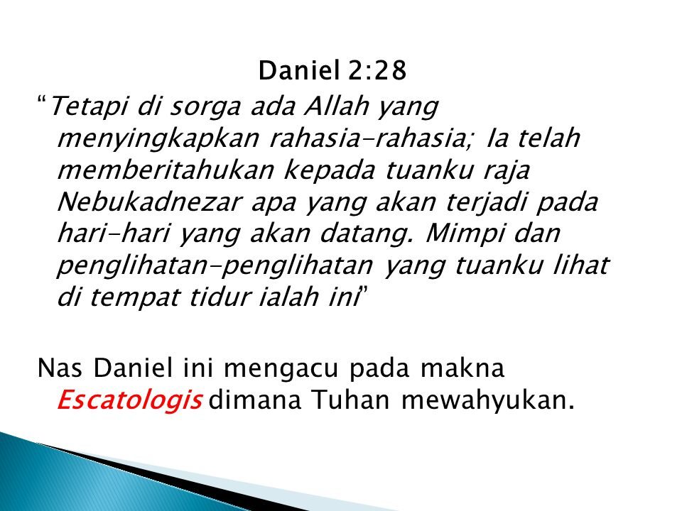 Daniel 2:28