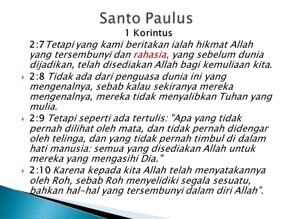 Santo Paulus 1 Korintus.