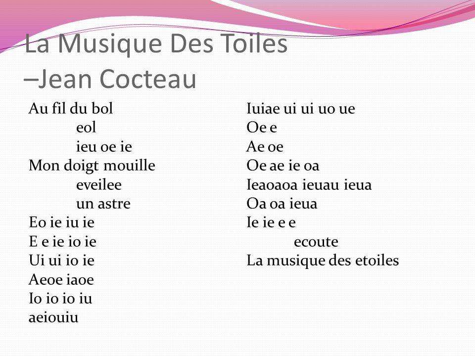 La Musique Des Toiles –Jean Cocteau