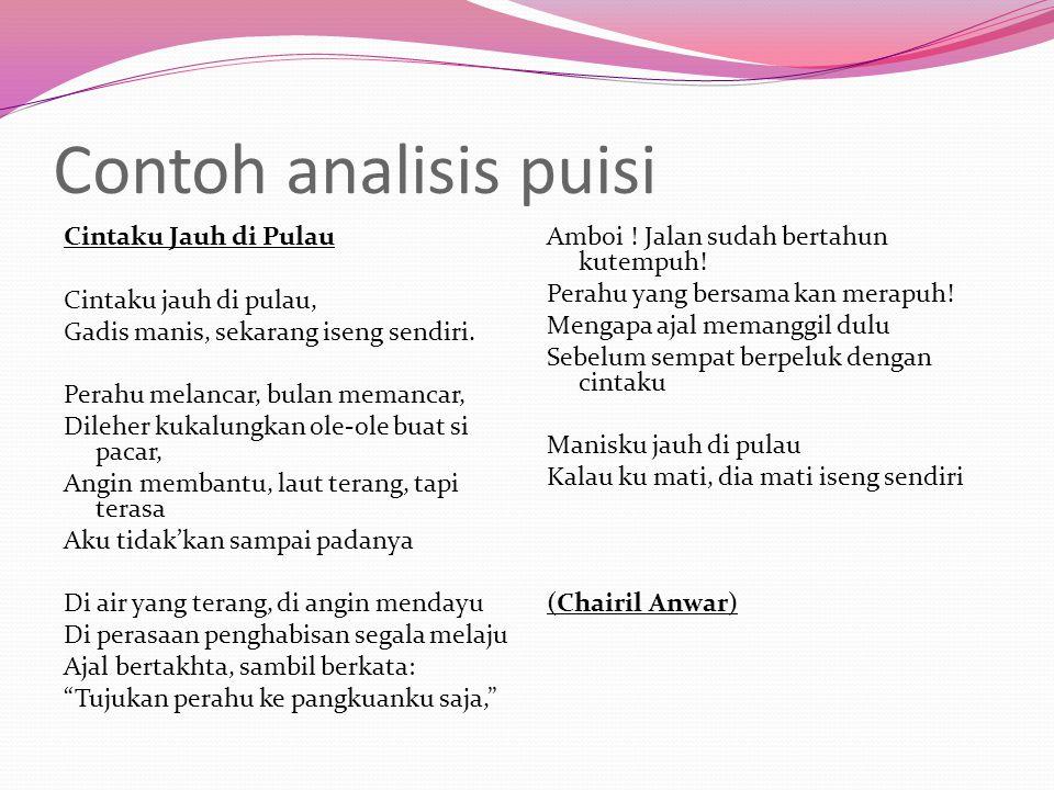 Contoh analisis puisi
