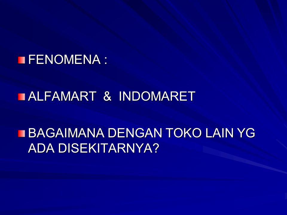 FENOMENA : ALFAMART & INDOMARET BAGAIMANA DENGAN TOKO LAIN YG ADA DISEKITARNYA