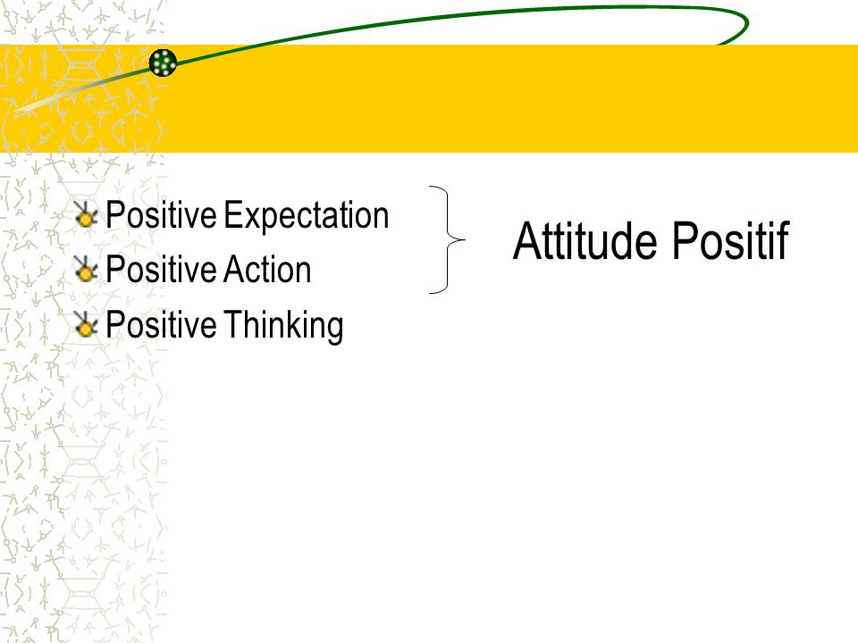 Attitude Positif Positive Expectation Positive Action