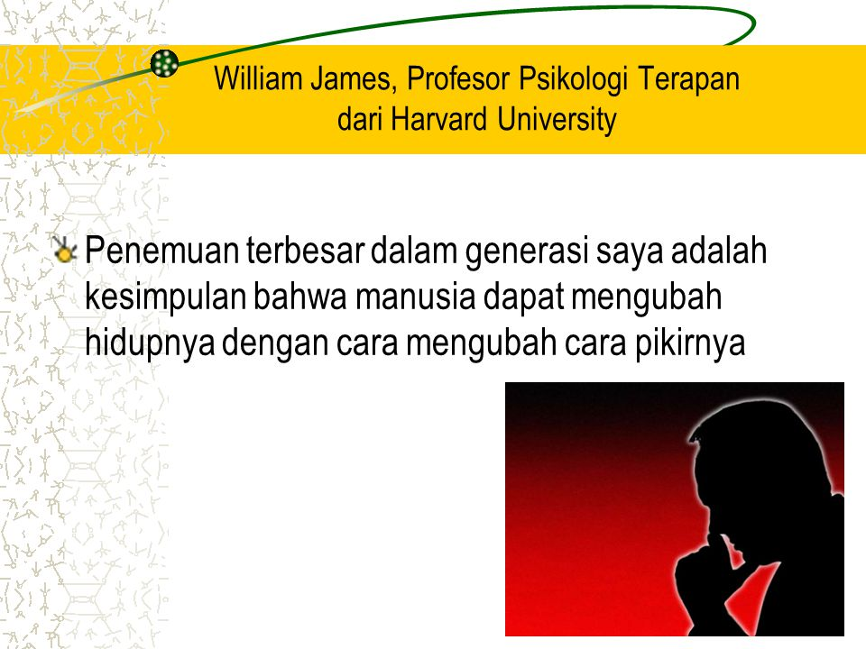 William James, Profesor Psikologi Terapan dari Harvard University