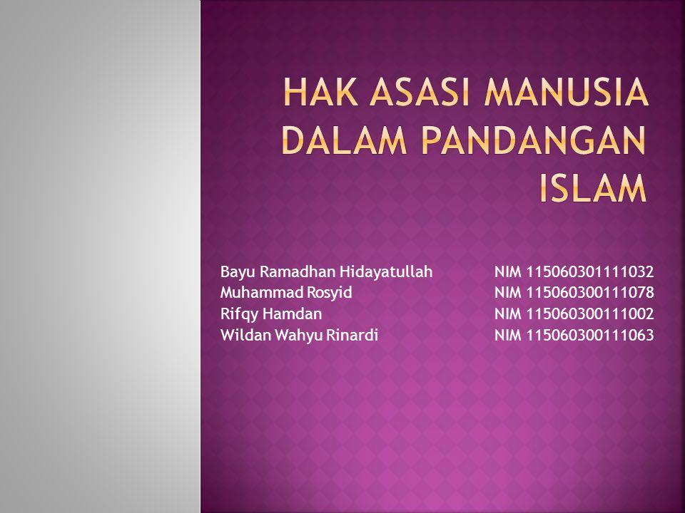 Hak asasi manusia dalam pandangan Islam