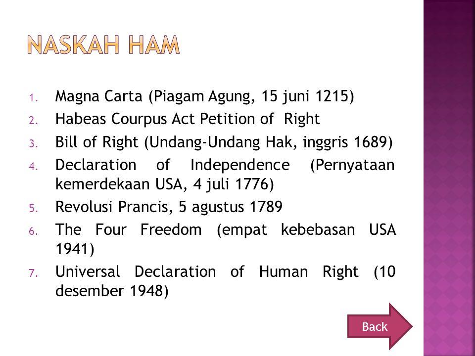 Naskah HAm Magna Carta (Piagam Agung, 15 juni 1215)