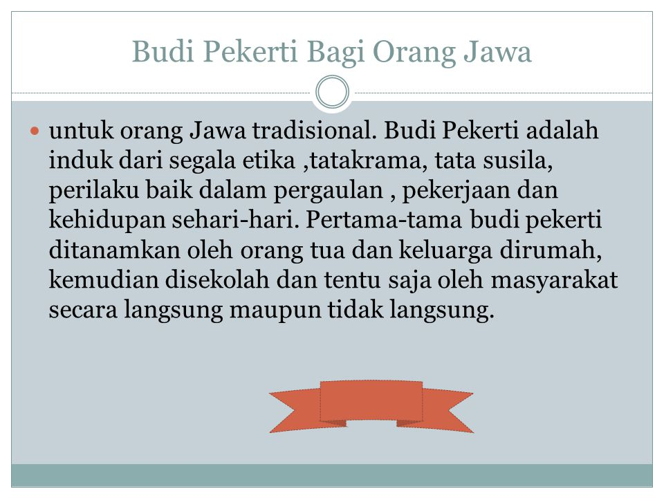 Budi Pekerti Bagi Orang Jawa