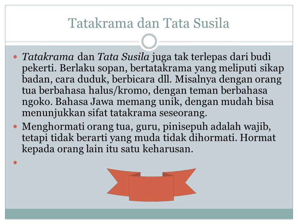 Tatakrama dan Tata Susila