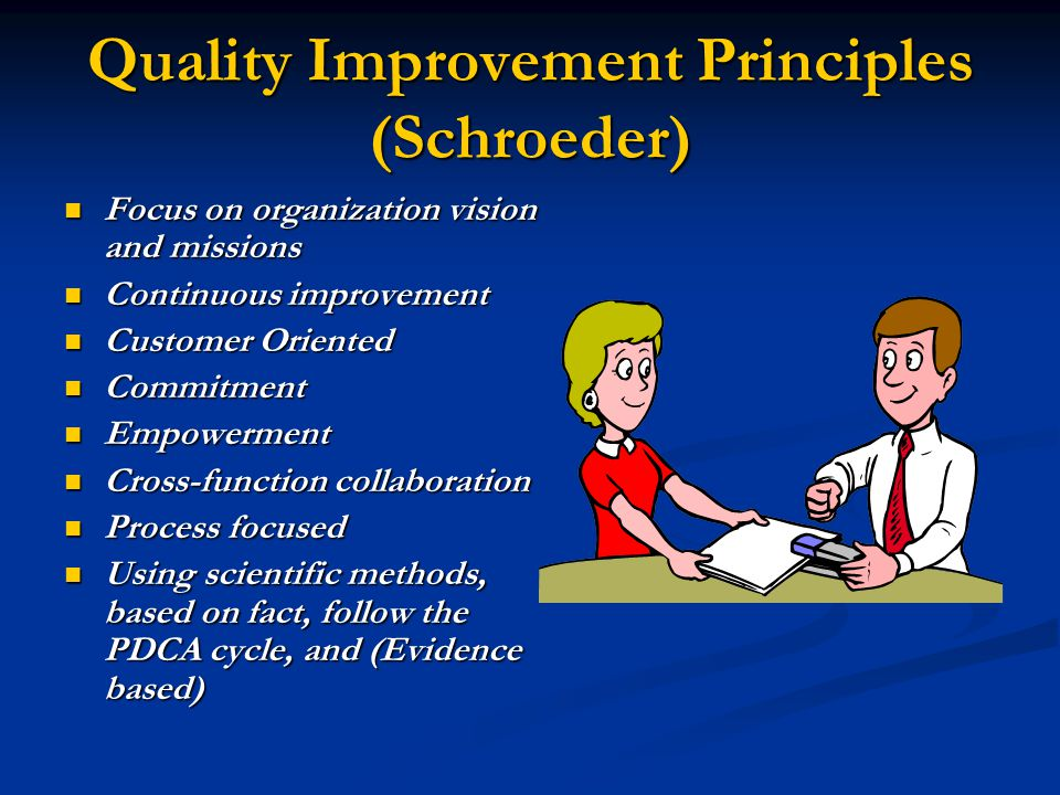Quality Improvement Principles (Schroeder)