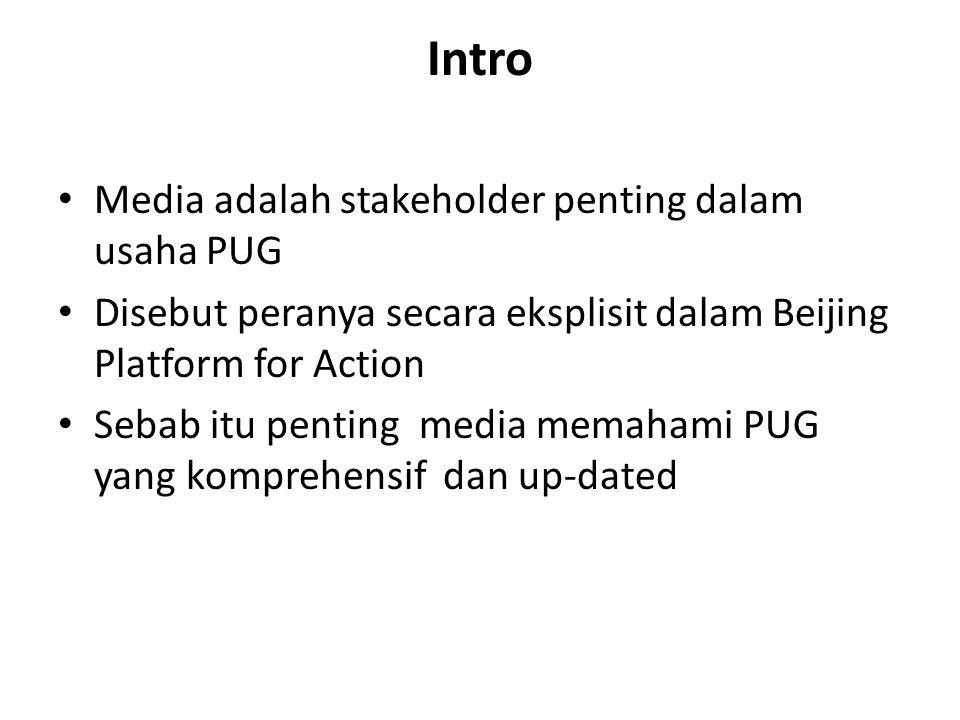Intro Media adalah stakeholder penting dalam usaha PUG