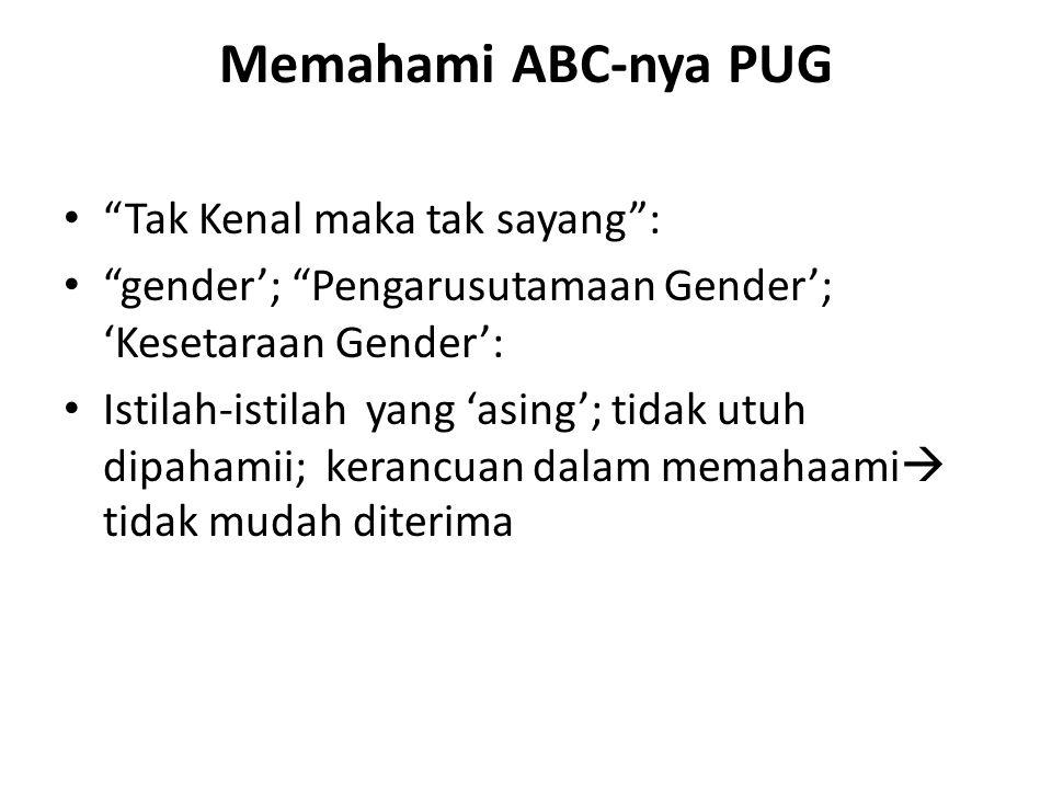 Memahami ABC-nya PUG Tak Kenal maka tak sayang :