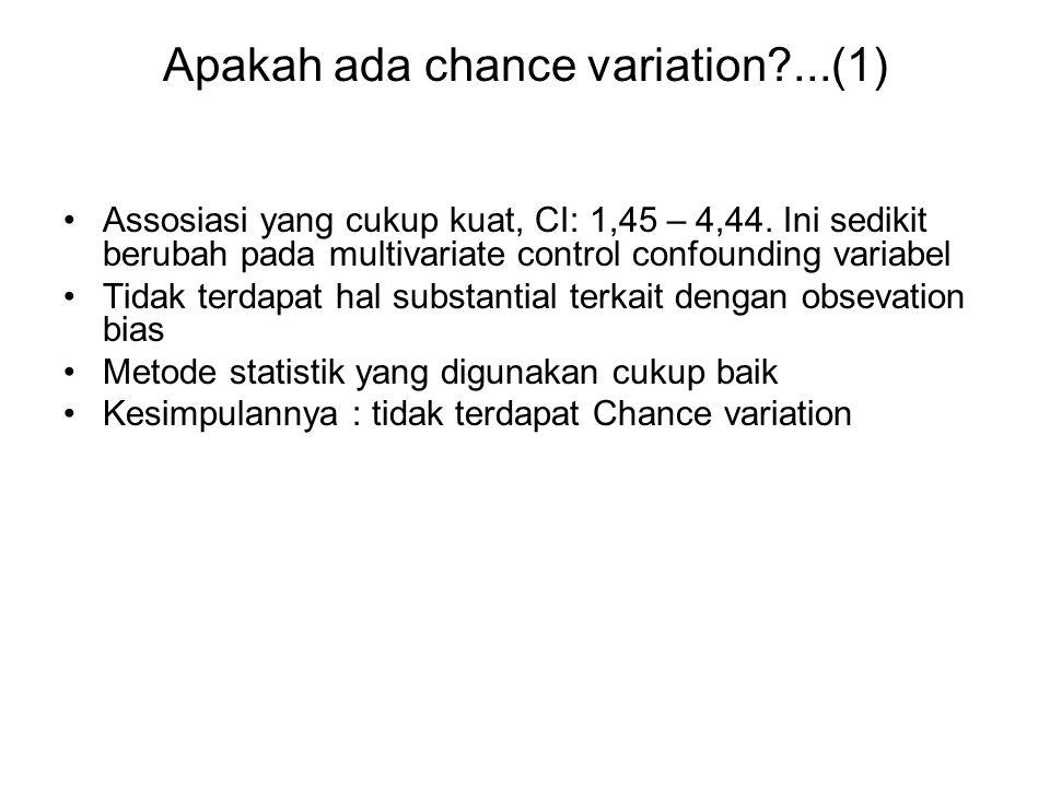 Apakah ada chance variation ...(1)