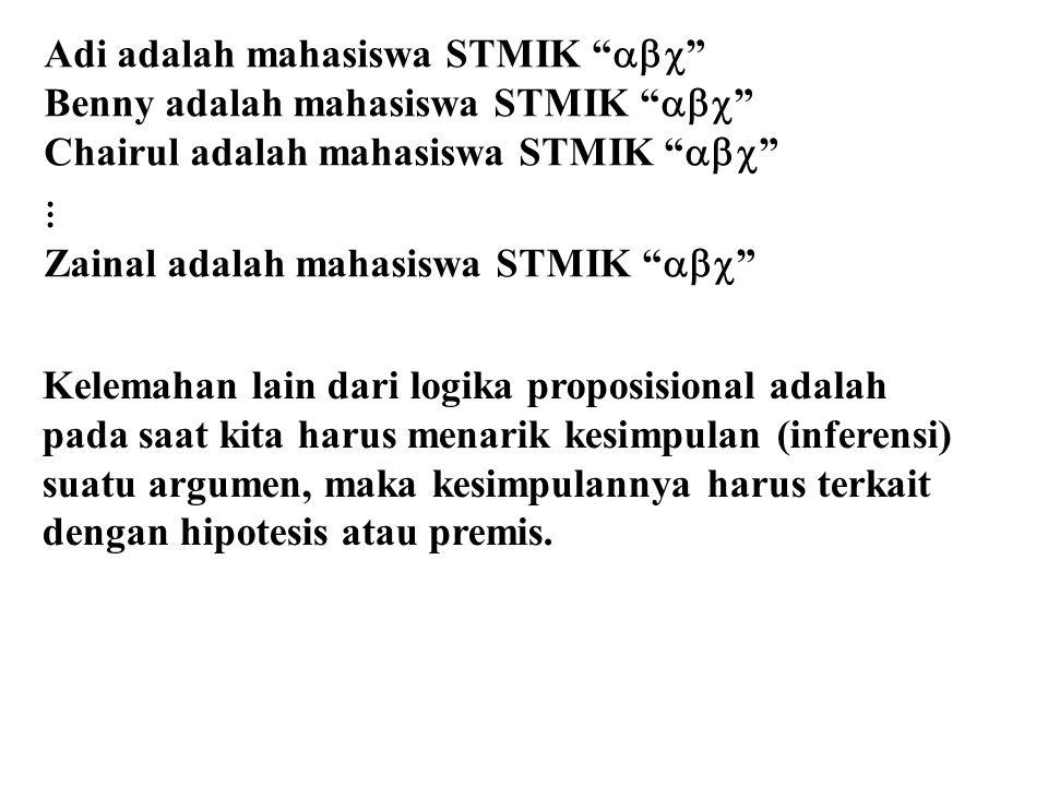 Adi adalah mahasiswa STMIK 