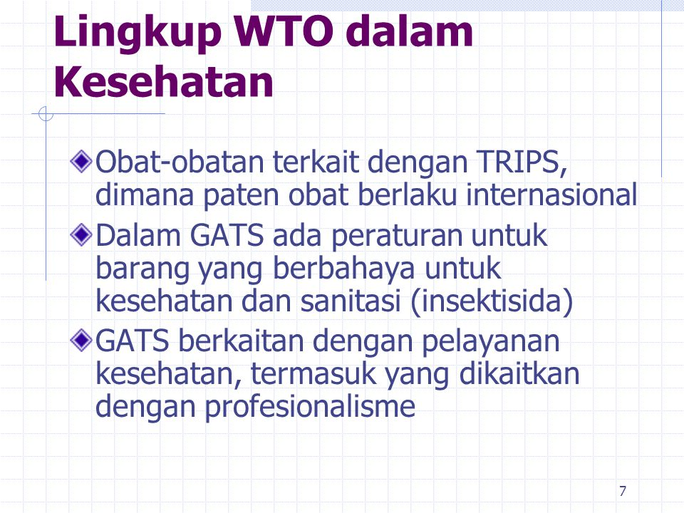 Lingkup WTO dalam Kesehatan
