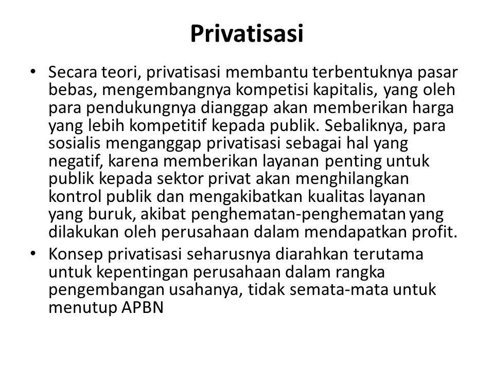 Privatisasi