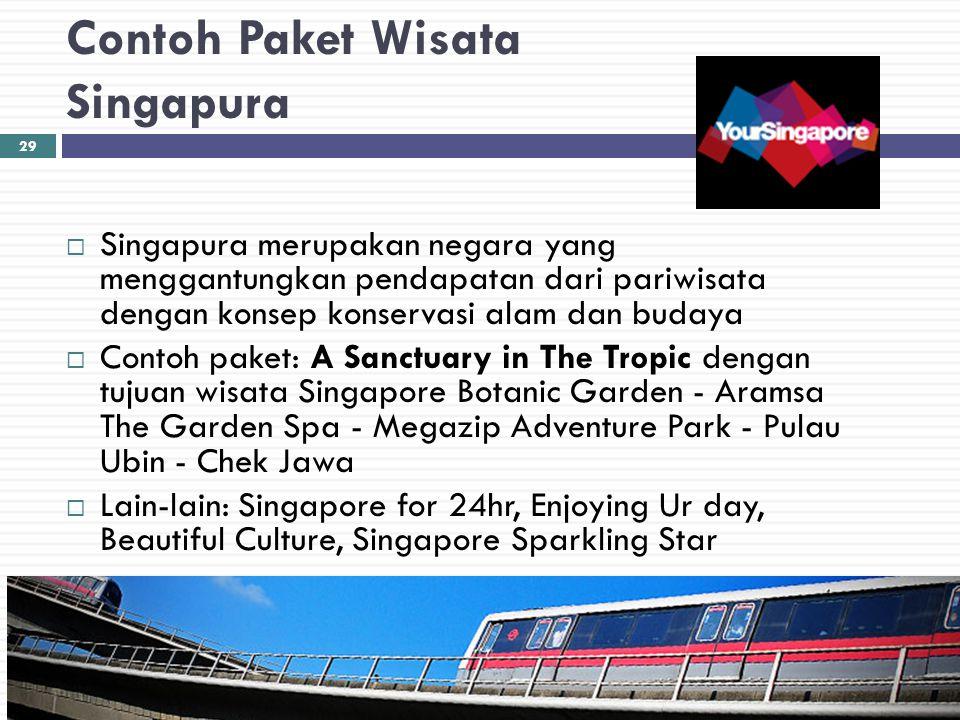 Contoh Paket Wisata Singapura