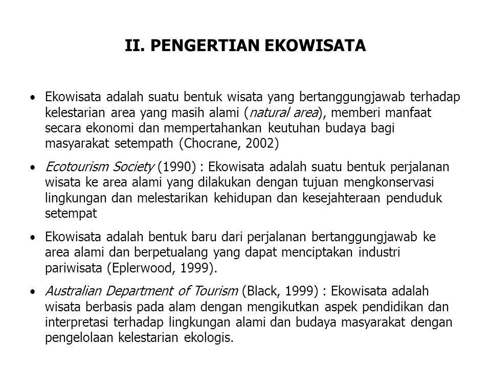 II. PENGERTIAN EKOWISATA