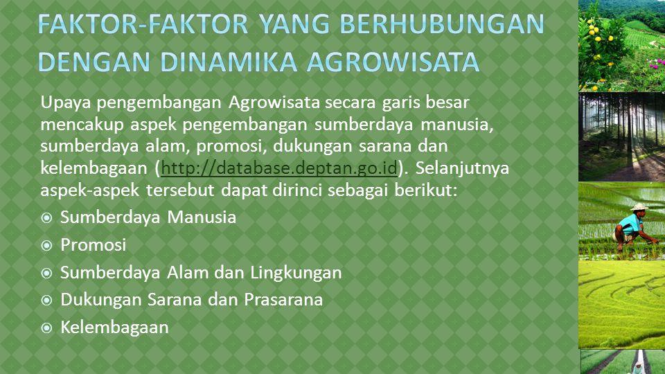 Faktor-faktor yang Berhubungan dengan Dinamika Agrowisata