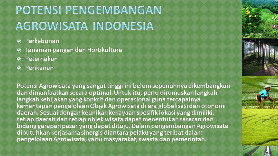 Potensi Pengembangan Agrowisata Indonesia